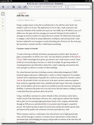readability iPad - After